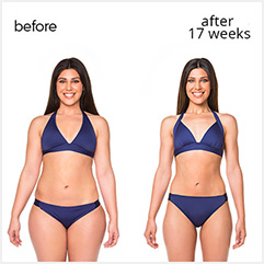 Before and After 17 Weeks Photo