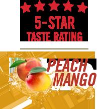 Five Star Taste Rating - Peach Mango
