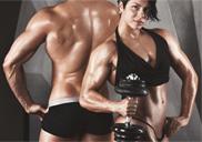 2 fitness models posing