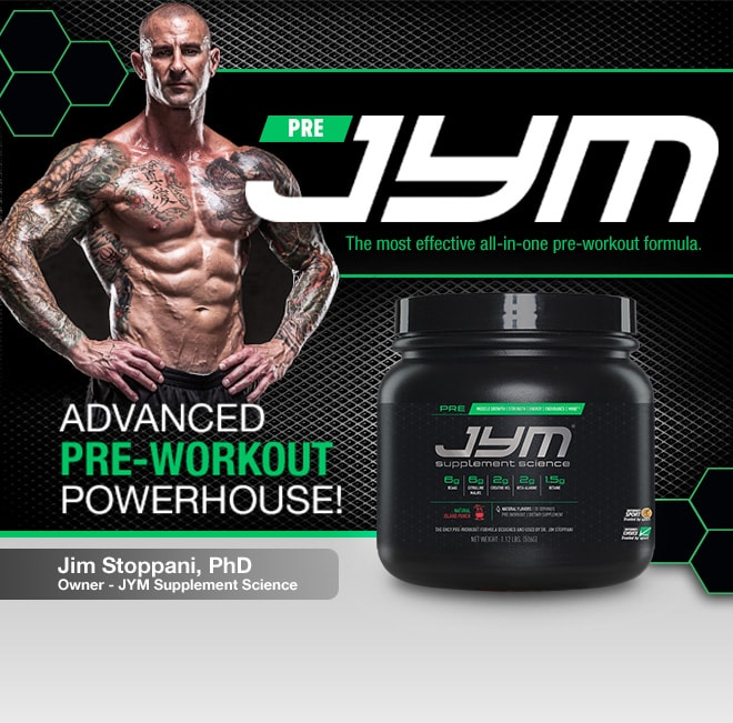JYM Pre Jym. The Most Effective All-In-One Pre-Workout Formula