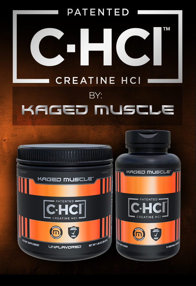 Patented C-HCL. Creatine HCL by Kaged Muscle.