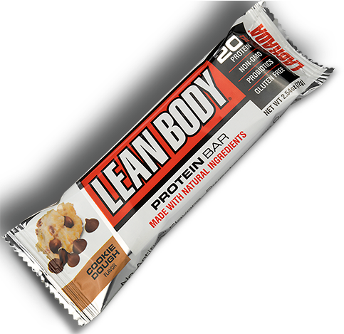 Picture of a LEAN BODY Protein Bar in wrapper.