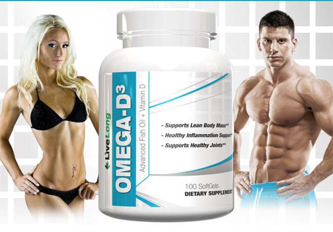 LiveLong Nutrition. Omega D-3. Supports Lean Body Mass. Healthy Inflammation Support. Supports Healthy Joints.*
