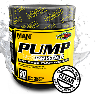 MAN Sports Pump Powder. CLEAN. No Articial Colors.