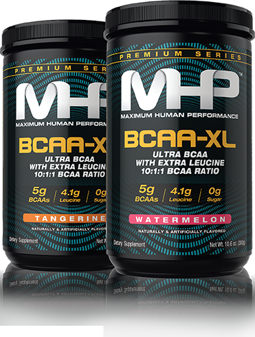 MHP. Maximum Human Performance. BCAA-XL. Ultra BCAA with Extra Leucine 10:1:1 BCAA Ratio.