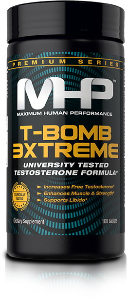 MHP T-Bomb Extreme. University Tested Testosterone Formula.