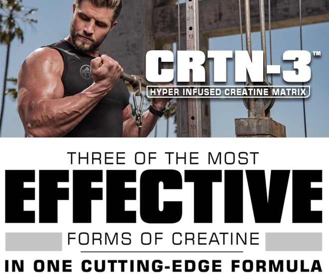 CRTN-3 Three of the most effective forms of creatine in one-cutting edge formula.