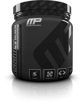 MusclePharm Assault Black bottle.