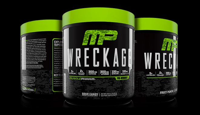 Musclepharm Wreckage Pre Workout Powder With Superior