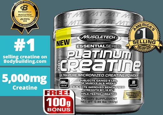 Platnium creatine bottle