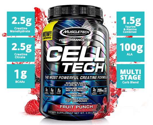 Cell tech by muscletech at best prices on cell tech - Cell tech hardgainer creatine formula ...