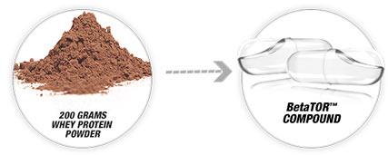 200 grams whey protein powder. betator compound.