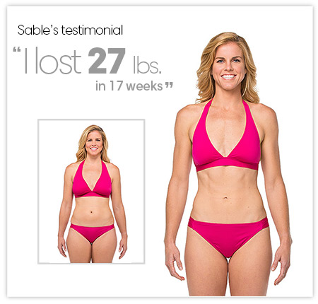 Sable's Testimonial. I love 27 lbs in 17 weeks!