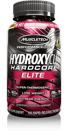 Hydroxycut Hardcore Elite Bottle