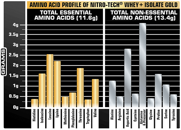 Amino Acid Profile of NITRO-TECH