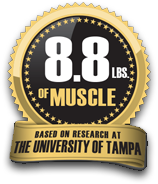 8.8lbs of Muscle. Based on Research at the University of Tampa