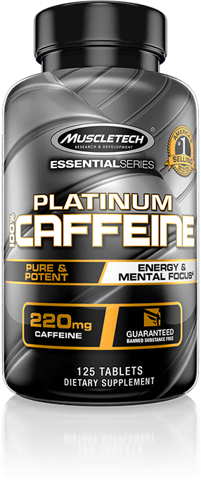Platinum 100% Caffeine Bottle