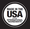 Made in the USA from International Ingredients.