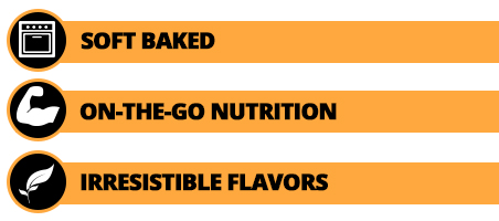 Soft baked, on-the-go-nutrition, irresistible flavors