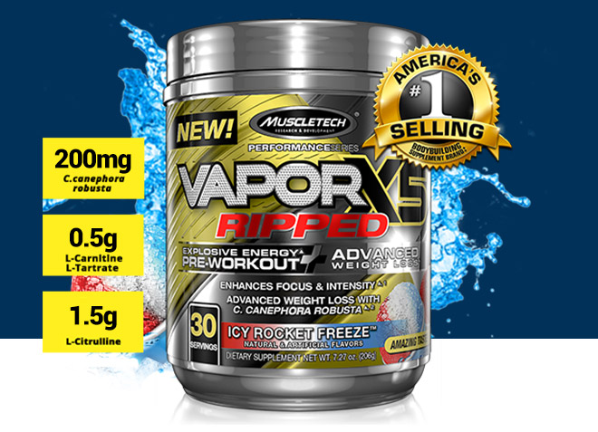 MuscleTech Vapor X5 Ripped at Bodybuilding com - Best Prices
