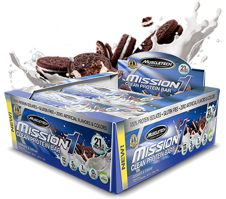 MuscleTech Mission1 Bar Cookies and Cream