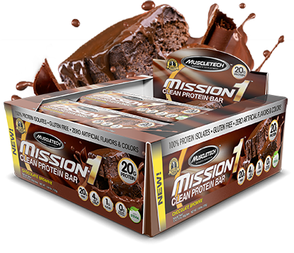 MuscleTech Mission1 Bar Chocolate Brownie