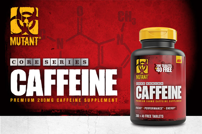 Mutant Core Series Caffeine. Premium 200mg Caffeine Supplement.