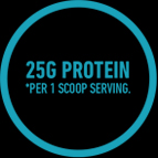 25G Protein per 1 Scoop Serving