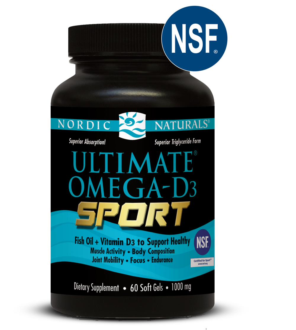 Ultimate omega d3 sport by nordic naturals at bodybuilding for Top fish oil brands