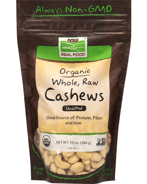 Now Organic, Raw, Whole Cashews