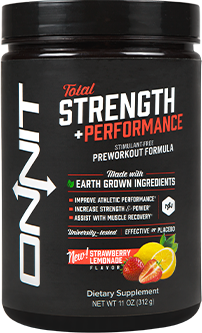 Onnit Total Strength + Performance Stimulant-Free Preworkout Formula bottle