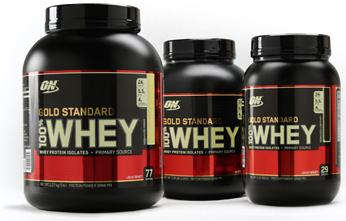 Optimum Nutrition Gold Standard 100% Suero de leche.