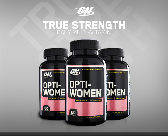 Optimum Nutrition. True Strength. Daily Multivitamin. Opti-Women Multi-Vitamin