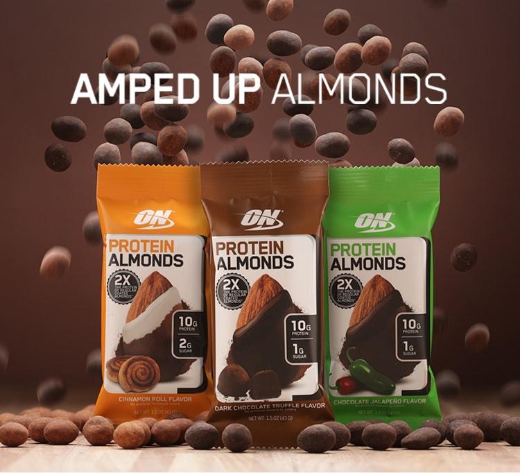 Optimum Nutrition Protein Almonds At Bodybuilding Com Best Prices On Protein Almonds Bodybuilding Com