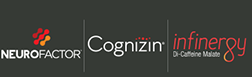 Neuro Factor, Cognizin and infinergy logos