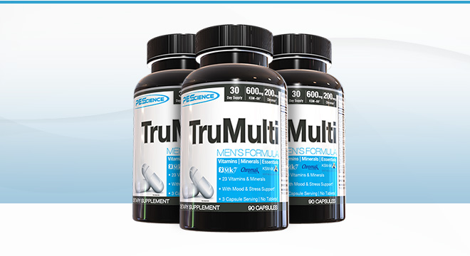 TruMulti Men and Women's formula bottles