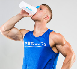 PEScience athlete drinking Select Protein