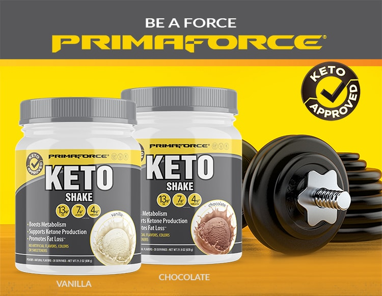 Be a Force. Primaforce Keto Shake.