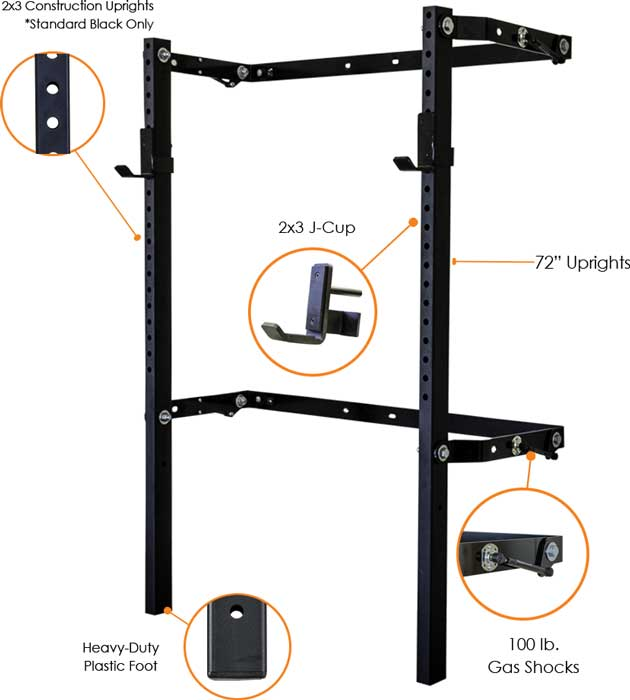 Prx performance 2x3 profile squat rack at for Prx performance