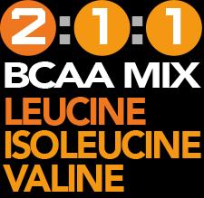 2.5g Leucine. Powerful BCAA. 1.6g Isoleucine. 1.5g Valine.