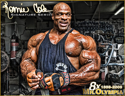 Ronnie Coleman Signature Series - 8x 1998-2005 Mr. Olympia