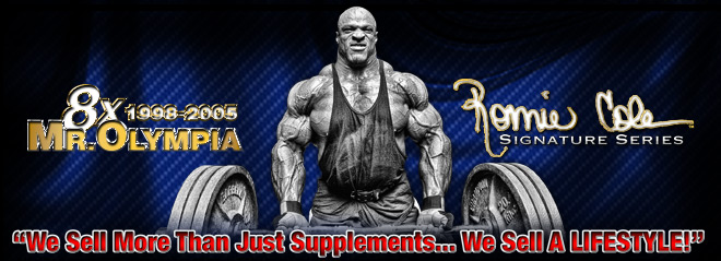 Ronnie Coleman Signature Series. 8x Mr. Olympia. 'The Only Supplements Good Enough To Have My Name On Them'