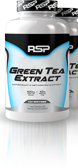 RSP Nutrition Green Tea bottles