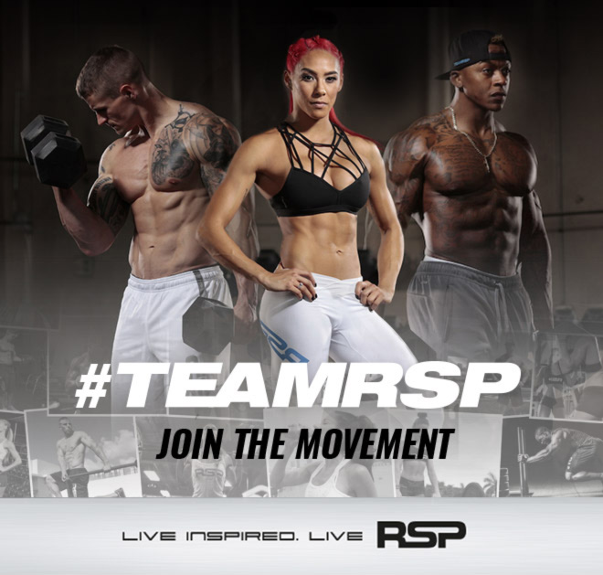 TeamRSP Join the Movement with 3 athletes line up together