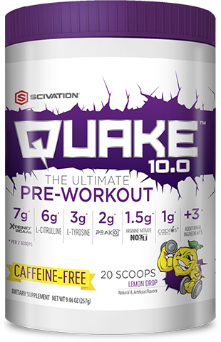 Quake 10.0 Caffeine-Free Lemon Drop