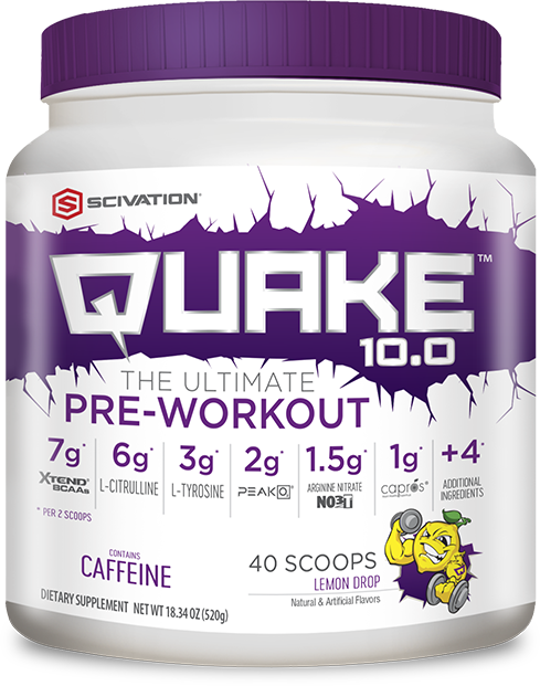 Scivation Quake 10.0 - The Ultimate Pre-Workout bottle shot