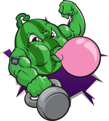Watermelon Bubblegum flavor mascot