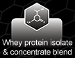 Whey protein isolate & concentrate blend