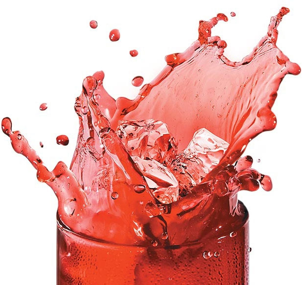 Image of a liquid splashing out of cup