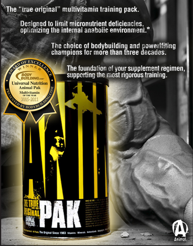 Animal Pak by Universal Nutrition at Bodybuilding.com